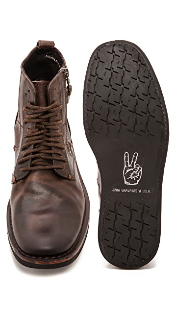 John Varvatos Star USA Barrett Side Zip Boots