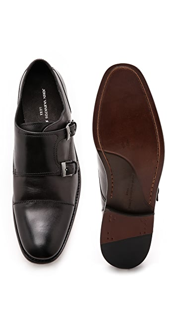John Varvatos Star USA Luxe Monk Strap Shoes