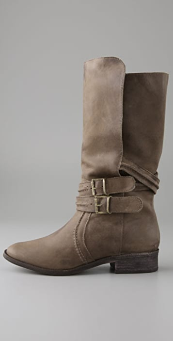 Joie New Orleans Mid Calf Boots with Strap