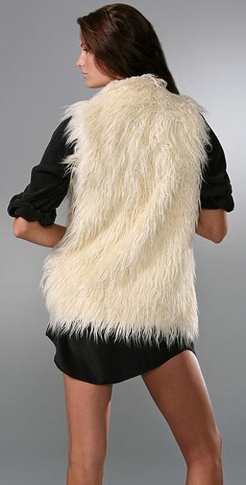 Joie Glimmer Faux Fur Vest