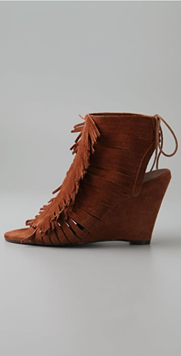 Joie Rock Steady Fringe Suede Booties