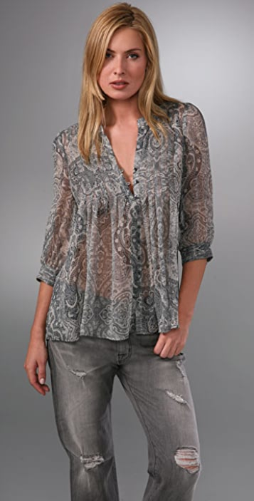 534f8a3328 Joie Mesa Pintuck Top with 3/4 Sleeves | SHOPBOP