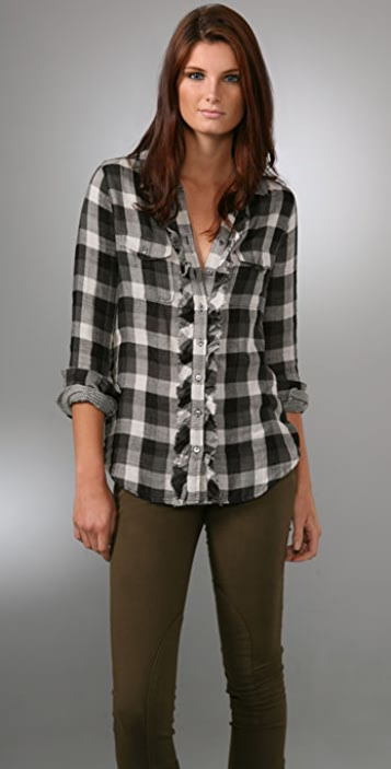 Joie Catori Western Plaid Shirt