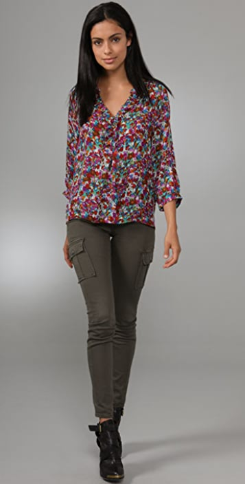 Joie Calabasas Magpie Floral Print Top