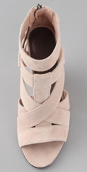 Joie Royce Suede Wedge Sandals