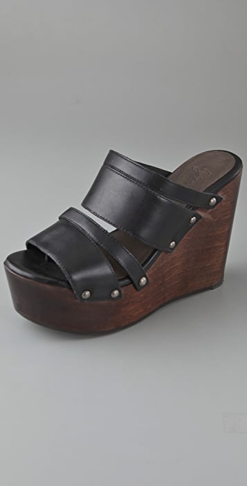 Joie Womack Wooden Wedge Sandals