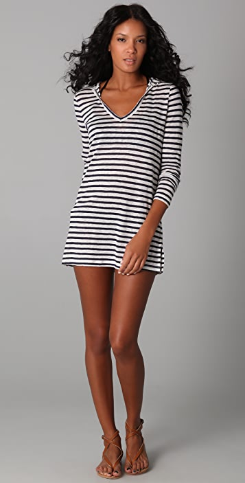 Joie Joie a La Plage Andy Striped Cover Up