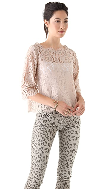Joie Elvia Back Button Top