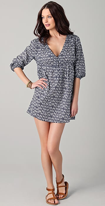 Joie Collie Ikat Print  V Neck Cover Up