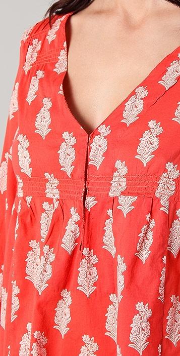 Joie Collie Leaf Print V Neck Cover Up