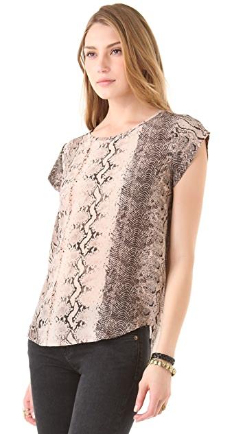 Joie Rancher Snake Print Top