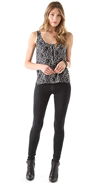 Joie Anouk Lace Printed Top