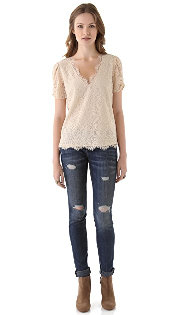 Joie Brianda Lace Top