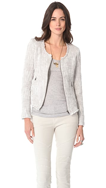 Joie Collis Two Tone Tweed Jacket