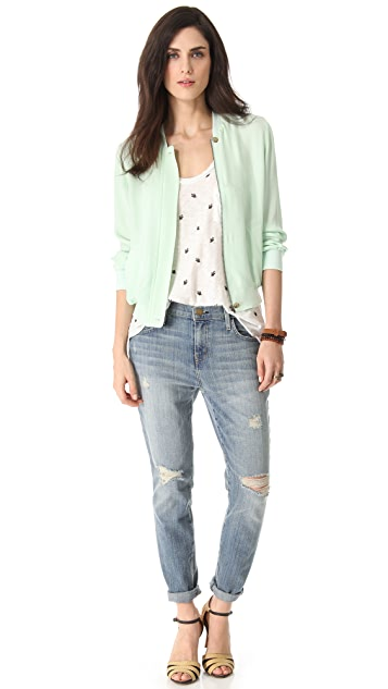Joie Empire Silk Bomber Jacket
