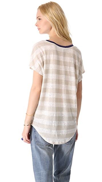 Joie Maddie Striped Linen Tee