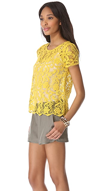 Joie Devine Crochet Lace Top