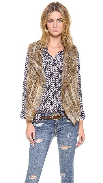 Joie Andoni Rabbit Fur Vest