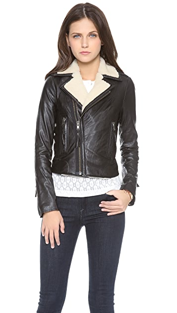 Joie Ailey E Leather Jacket