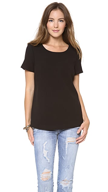 Joie Deleina Wool Crepe Top