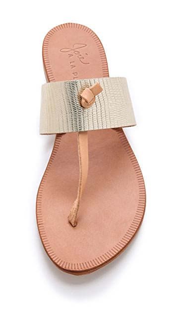 Joie A La Plage Nice Metallic Thong Sandals