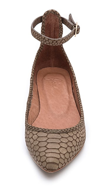 Joie Temple Ballet Flats with Ankle Straps