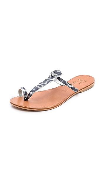 Joie A la Plage Rivage Toe Ring Flat Sandals