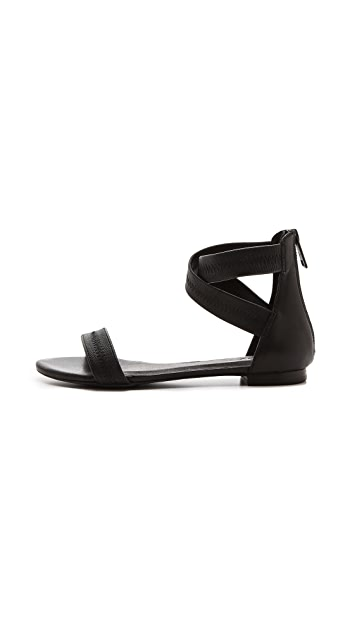 Joie Norah Cross Strap Flat Sandals
