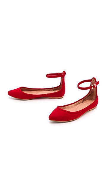 Joie Temple Ankle Strap Flats