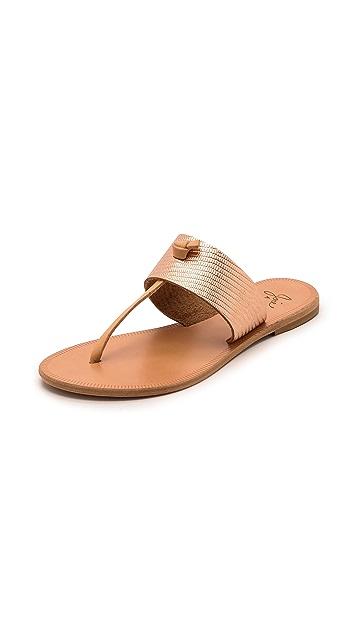 168d69bb831 Joie A la Plage Nice Metallic Thong Sandals