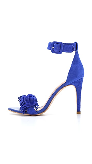 Joie Pippi Fringe Suede Sandals