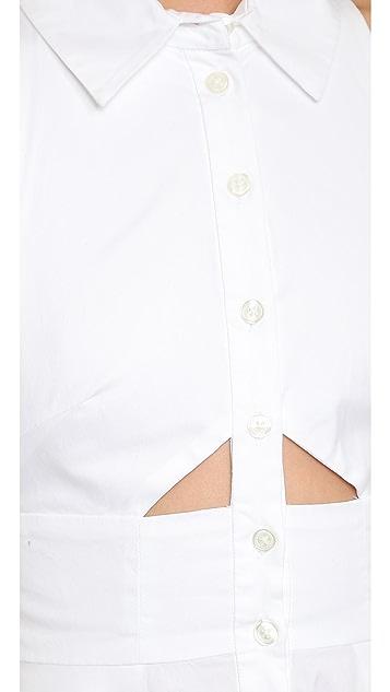 Jonathan Simkhai Cutout Shirtdress