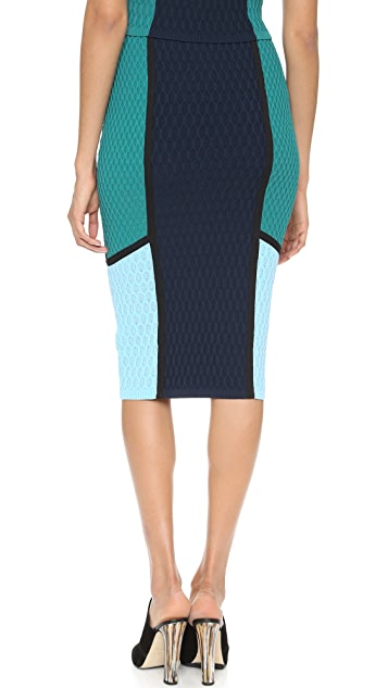 Jonathan Simkhai Hex Colorblock Skirt
