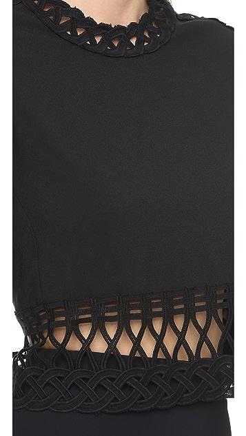 Jonathan Simkhai Tread Lace Crop Top