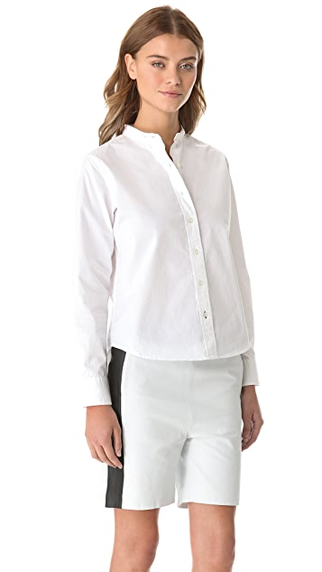 Jonathan Simkhai Boucle Collared Shirt