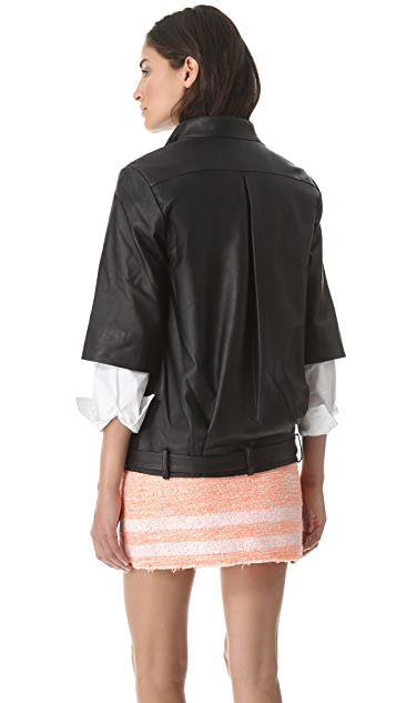 Jonathan Simkhai Leather Baja Jacket