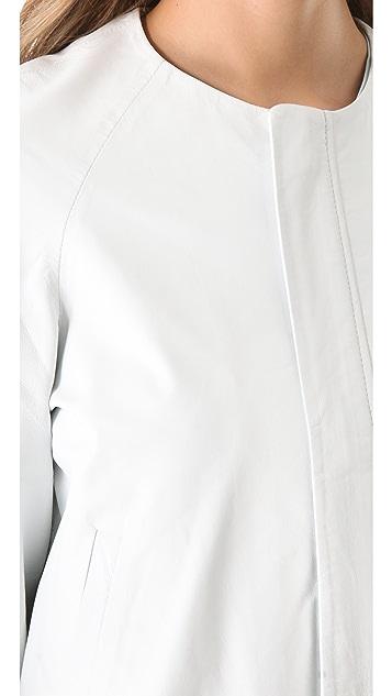 Jonathan Simkhai Baseball Leather Jacket