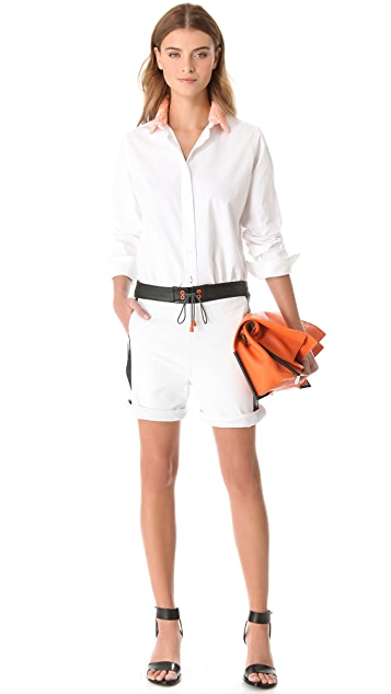 Jonathan Simkhai Leather Board Shorts