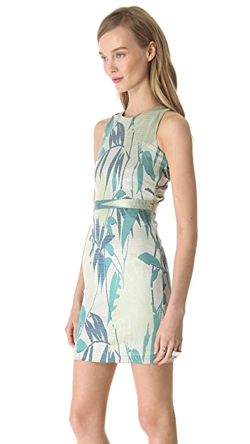 Jonathan Simkhai Drape Back Jacquard Dress