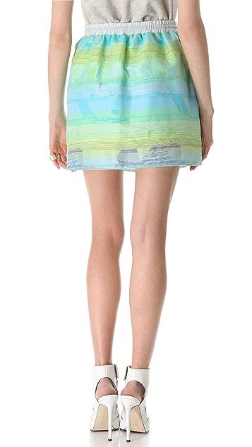 Jonathan Simkhai Drawstring Puff Skirt