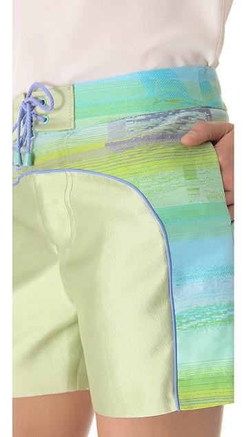 Jonathan Simkhai Curve Boardshorts
