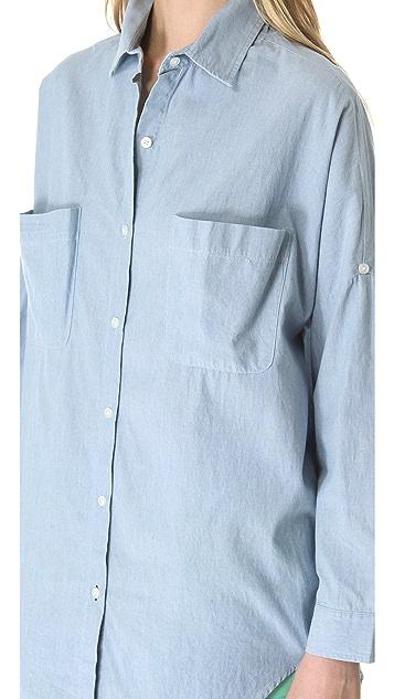 Jonathan Simkhai Baggy Chambray Shirt