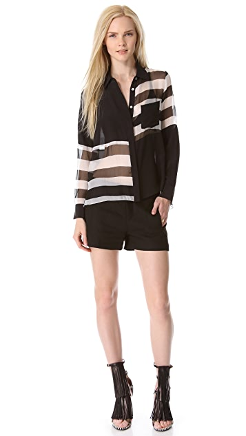 Jonathan Simkhai Blocked Stripe Blouse