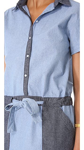 Jonathan Simkhai Chambray Tie Dress