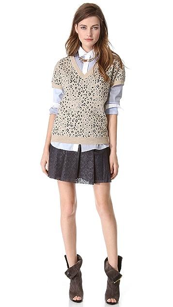 Jonathan Simkhai Checkered Oxford Shirt