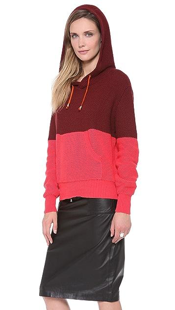 Jonathan Simkhai Two Tone Hoodie Sweater