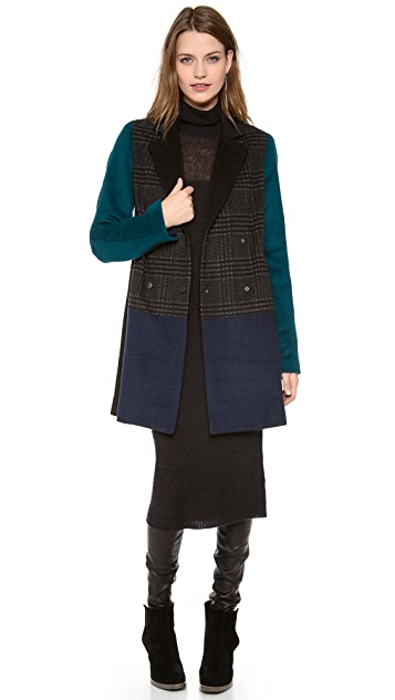Jonathan Simkhai Long Colorblock Coat
