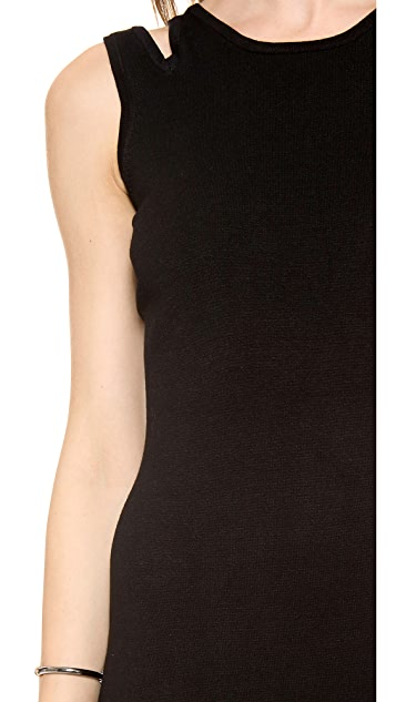 Jonathan Simkhai Slit Knit Tank Dress