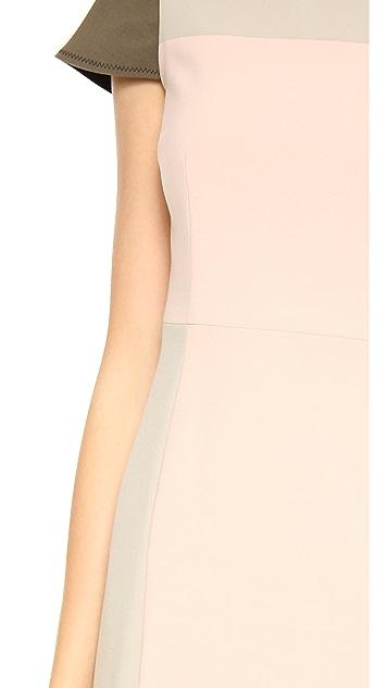 Jonathan Simkhai Crepe Cap Sleeve Dress