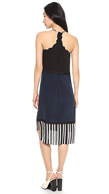 Jonathan Simkhai Stripe Trim Dress
